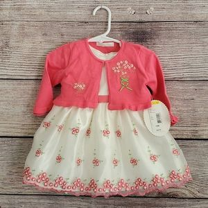 American Princess 2pc Dress & Cardigan - 12 month